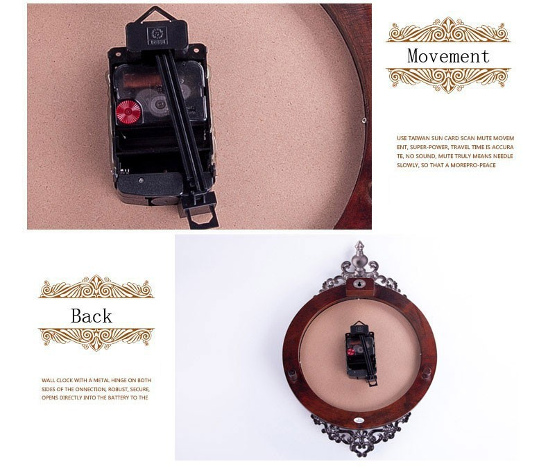 US $85 53 |Ouyun الأزياء الفاخرة خشبية البندول ساعات الحائط خمر والبكم ساعة  الحائط ديكور غرفة المعيشة الإبداعية تصميم اليدوية الخشبية كبير-في ساعات