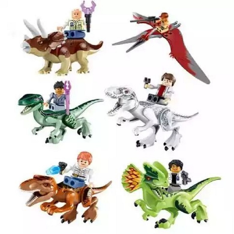 Building Blocks Super Heroes Jurassic World 2 DIY Dinosaurs Indominus Rex Tyrannosaurs T-Rex Toys Children Gift Toys YE 77037 цена и фото
