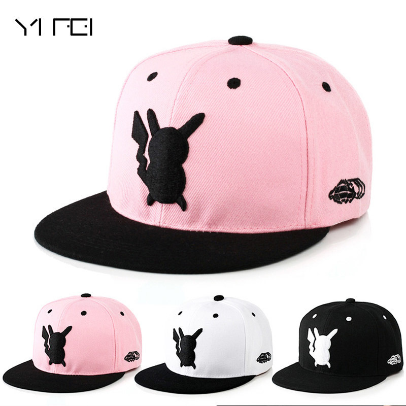 2018 Pokemon Go Parent-child   Baseball     Cap   Adult Cartoon Lovely Pikachu Snapback Hip Hop Embroidery Hat For Man Woman