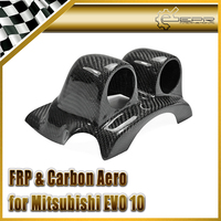 Car styling Carbon Fiber Dash Top Double Gauge Pod 52mm For Mitsubishi Evolution EVO 10 In Stock