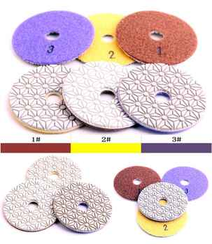 Grit #2 DC-FW3PP02 D100mm flexible diamond wet 3 step polishing pads for granite and engineered stone - DISCOUNT ITEM  14% OFF All Category