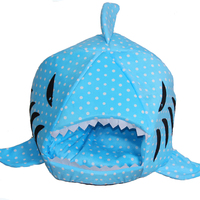 Venxuis New Winter Warm Cartoon Shark Pet Dog House For Large Dogs Soft Cotton Small Dog Cat Bed Puppy Bed Pet Cat Mat