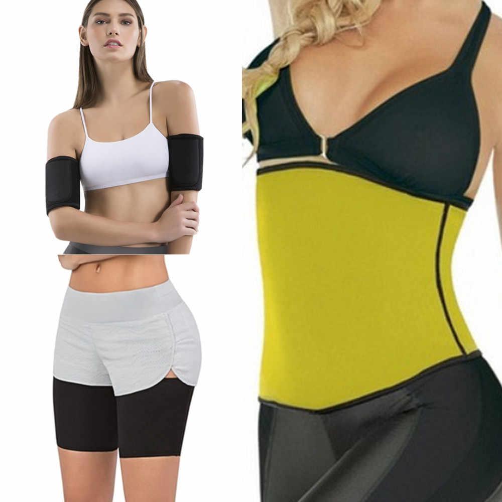 8d12ff4a23 Waist Trainer Slimming Belt Sauna Legs Sleeves Sweating Weight Loss Arms  Fitness Women s Shapers Neoprene Hot