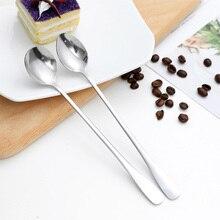 1 шт. с длинной ручкой из нержавеющей стали кофейная ложка десерт, мороженое чайная ложка для пикника кухонные аксессуары