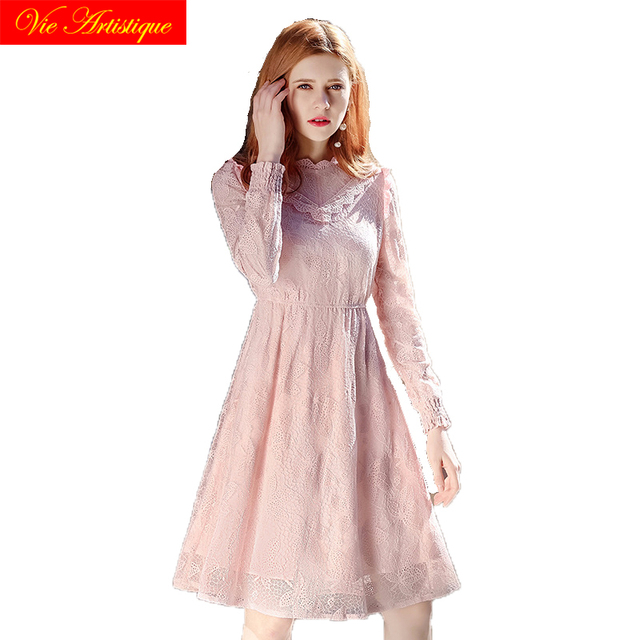 2018 summer lace dress women's party casual work pink dresses large plus size maxi long beach boho bohemian pink green elastic