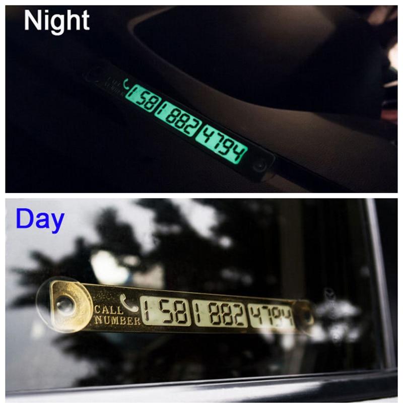 Tillfälligt parkeringskort Ljus telefonnummer kortplatta för VW Passat B5 B6 CC Tiguan Golf 6 7 MK6 Polo Bora Jetta Tillbehör