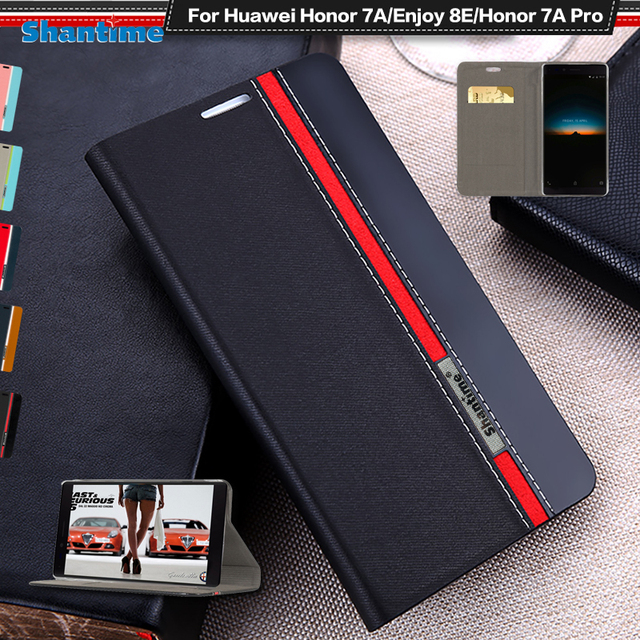 Чехол-книжка для huawei Honor 7A Pro Бизнес флип-чехол кожаный кошелек чехол для huawei Honor 7A Pro TPU Мягкая силиконовая задняя крышка