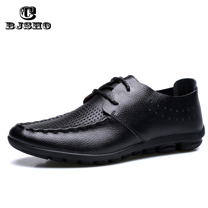 CBJSHO Quality Genuine Leather Men Shoes Soft Moccasins Men's Loafers Casual Fashion Brand Men Flats Breathable Driving Shoes 2017 new brand breathable men s casual car driving shoes men loafers high quality genuine leather shoes soft moccasins flats