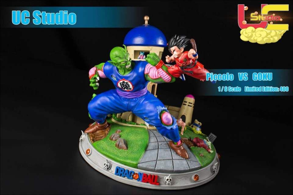 MODEL FANS IN-STOCK Dragon Ball Z UCS 35cm childhood Son Goku vs Piccolo gk resin action figure toy for Collection model fans in stock dragon ball z mrc 30cm son gohan practice gk resin statue figure toy for collection
