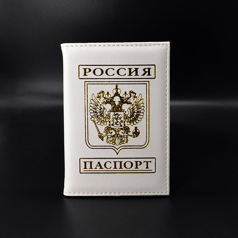 New Russia Women Passport Cover Purple Russian Passport Holder Travel Covers for Passport girls passport case travel passport holder women girl pasport cover beautiful case for passport travel organizer passport covers for passports
