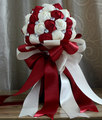 Rhinestone Red Artificial Bridesmaid Wedding Bouquets Ramo Novia Bridal Flower Accessoires Mariage