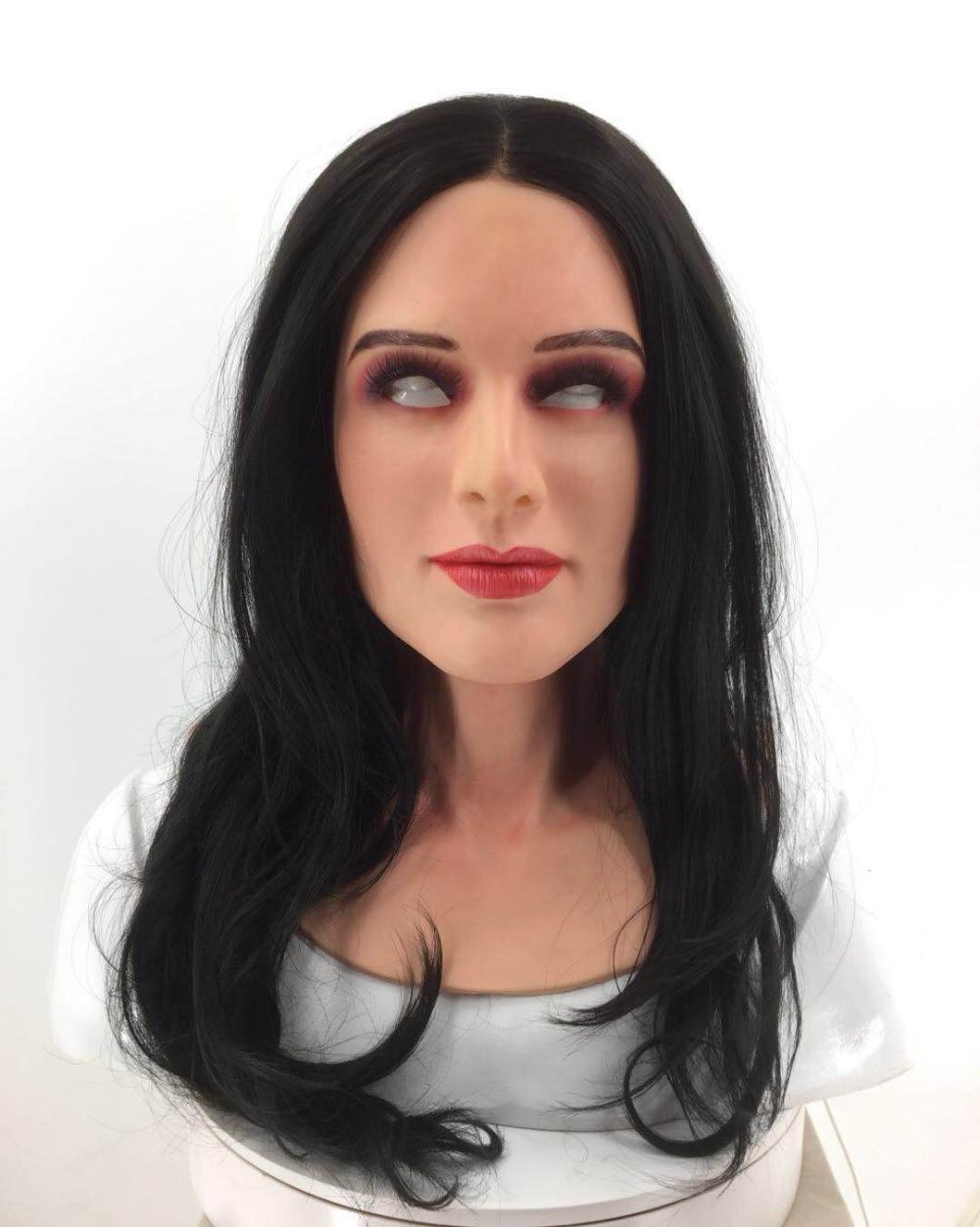 SchöN Roanyer Ria Transgender Silikon Shemale Realistische Gesicht Maske Cosplay Frauen Crossdresser Latex Kleid Für Männlichen Sexy Party Liefert Event & Party Festliche & Party Supplies