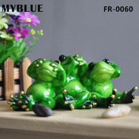 MYBLUE Kawaii Yapay Hayvan Aşk Aile Kurbağalar Reçine Figürinler Ev Heykel Dekor Süslemeleri Aksesuarları Hediyeler El Sanatları