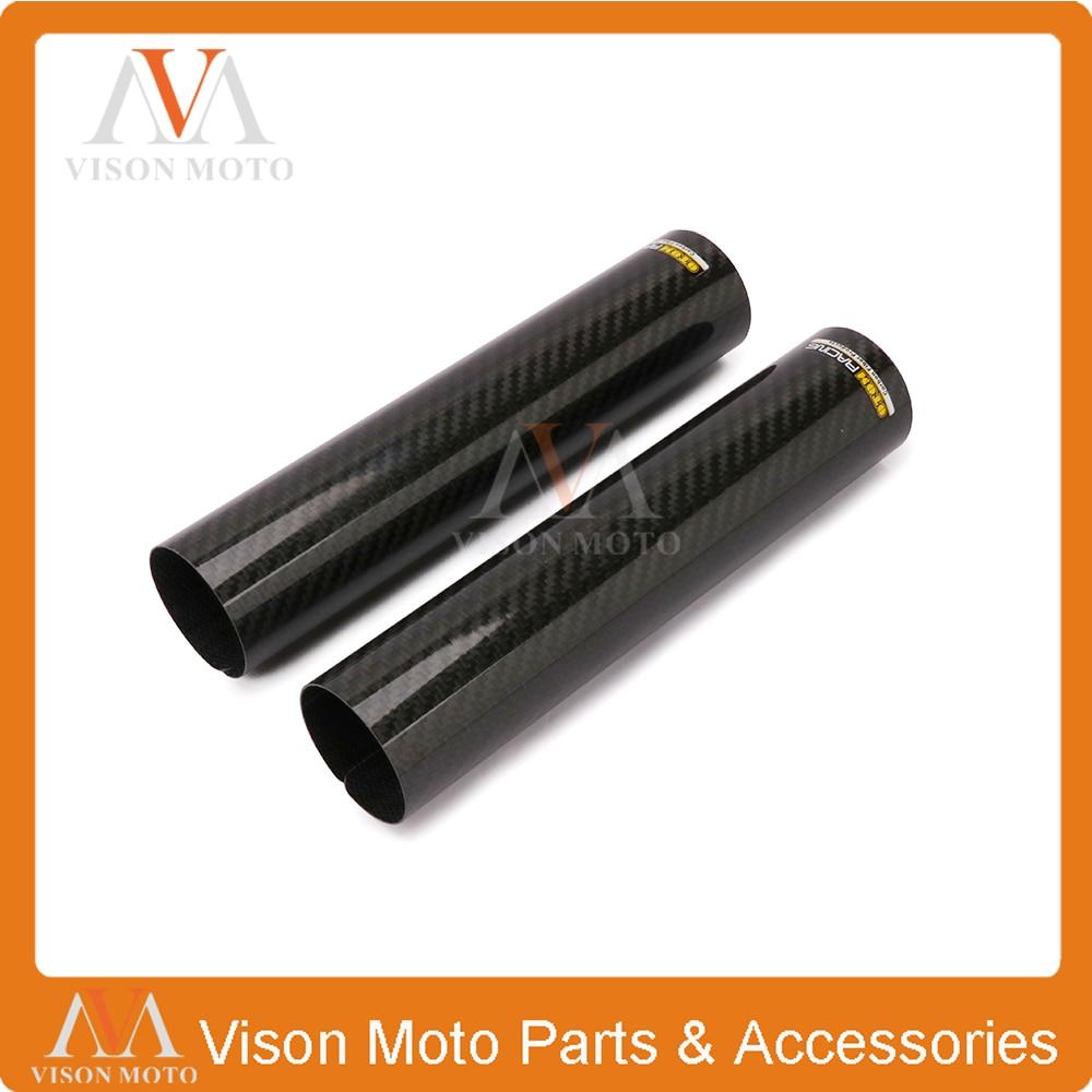 240*52 MM protecteur de fourche avant en Fiber de carbone pour KTM Yamaha CR CRF YZ YZF WRF KXF KLX moto Motocross Dirt Bike