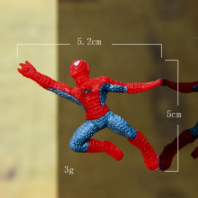 6 Spider-Man Mini Figures