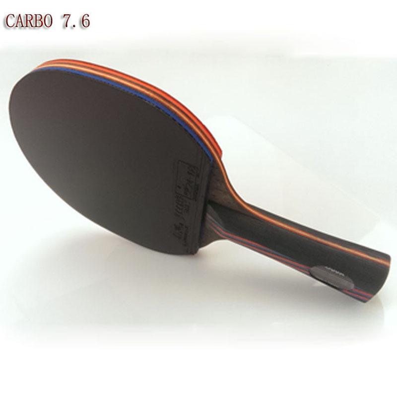 professional WRB carbon fiber table tennis racket double face pimples-in table tennis rubber long or short handle ping ping bat winmax wmy52415z1 professional quality 5 star long handle table tennis racket bat red black
