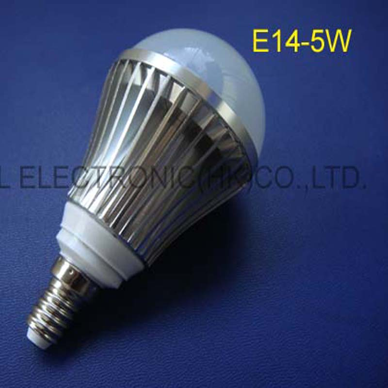 Hot selling 5W high power Led light, led 5w E14 light, 5w E14 led lamps free shipping 2pcs/lot
