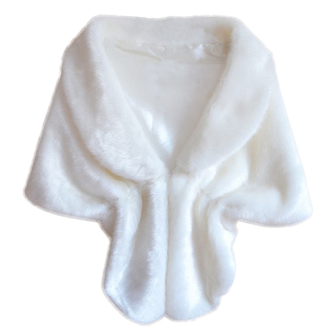 Good Deal New Fashion Women Ladies Elegant Bridal Wedding Faux Fur Long Shawl Stole Wrap Shrug Scarf Gift 1PC