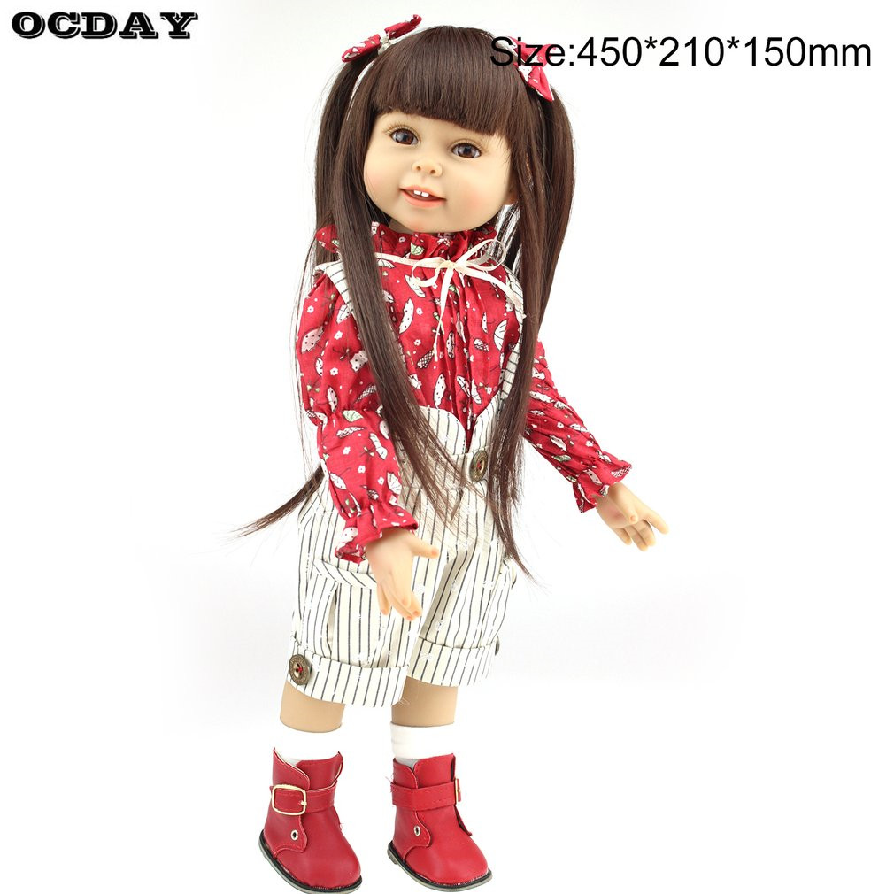 40/45cm Reborn Baby Doll Kids Playmate Gift for Girls Baby Alive Soft Toys American Girl Reborn Toys Photo Props Best Gifts [mmmaww] christmas costume clothes for 18 45cm american girl doll santa sets with hat for alexander doll baby girl gift toy