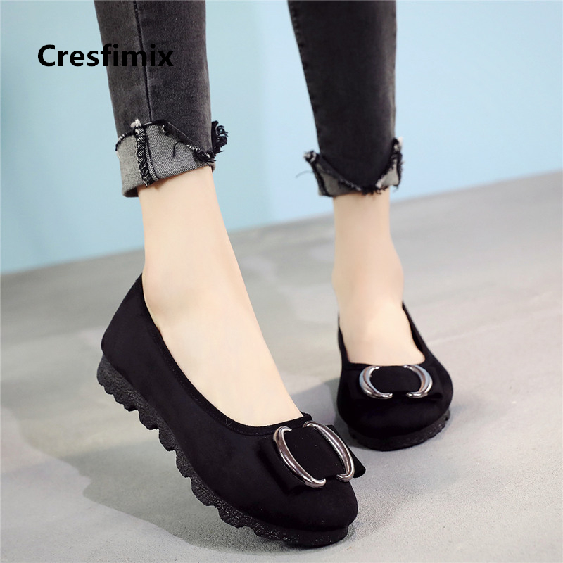 Cresfimix women fashion comfortable dance flat shoes lady cute & leisure plus size loafers sapatos femininas cool shoes a2012 женские блузки и рубашки hi holiday roupas femininas blusa blusas femininas
