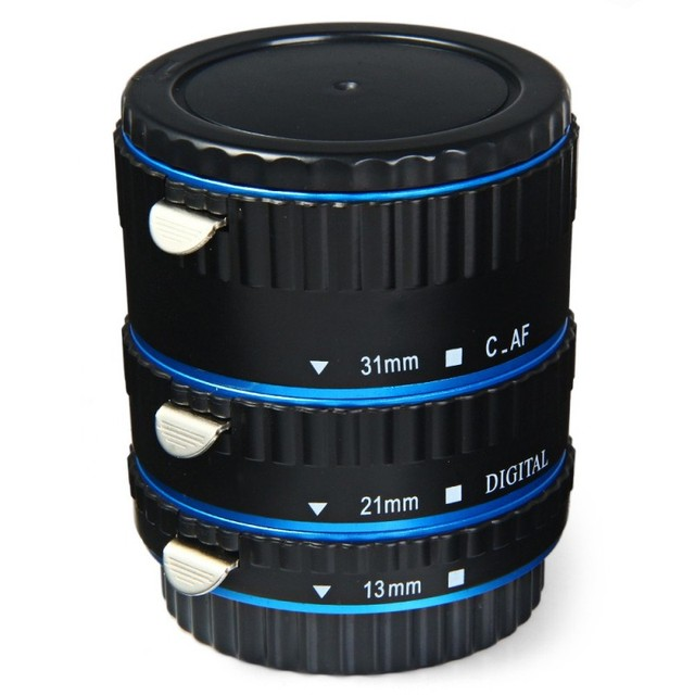 Metal Mount Auto Focus AF Macro Extension Tube Ring for Canon EOS EF-S Lens 760D 750D 700D 5D Mark II/III/IV 7D Lens Adapter BL