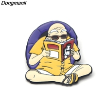 P2302 Dongmanli Anime Dragon Ball Cute Master Roshi Kame Sennin Metal enamel badges pin brooch backpack jewelry 100% original bandai tamashii nations s h figuarts shf exclusive action figure kame sennin master roshi from dragon ball