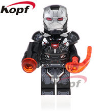 Single Sale Super Heroes War Machine Vision Captain America Scarlet Witch Building Blocks Children Toys Gift XH 872(China)