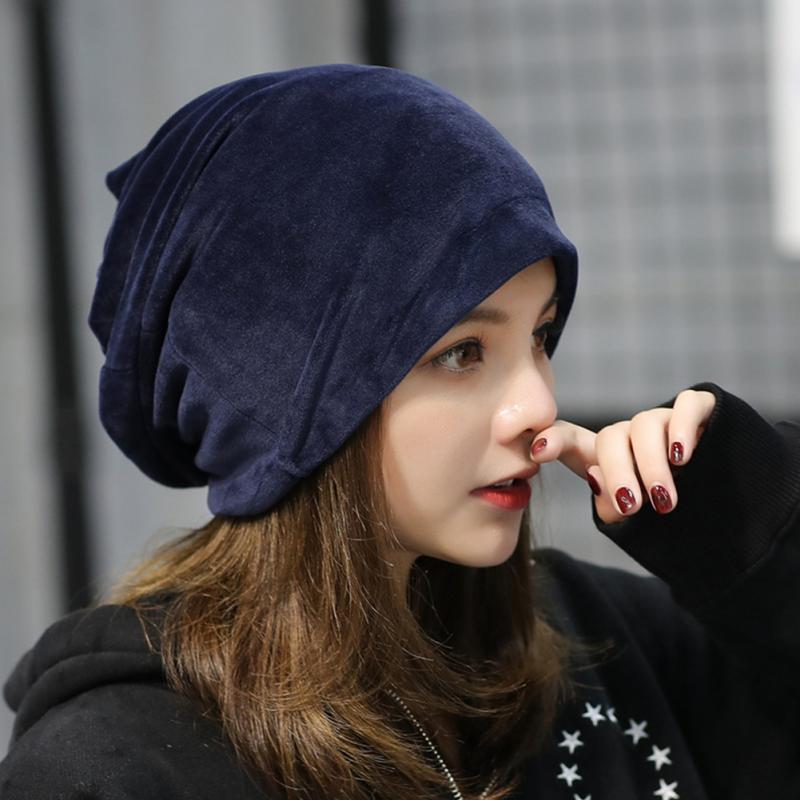 76faabb378f Aliexpress.com   Buy Thick Warm Velvet Hats For Women Plush Hat Cap For Girls  Female Winter Caps Hats Skullies Beanies from Reliable velvet hat suppliers  on ...