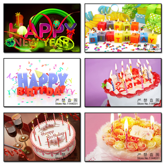MYCELLA 5D Diy Diamond Painting Full Embroidery Flowers Happy Birthday Cake New Year Mosaic Cross Stitch