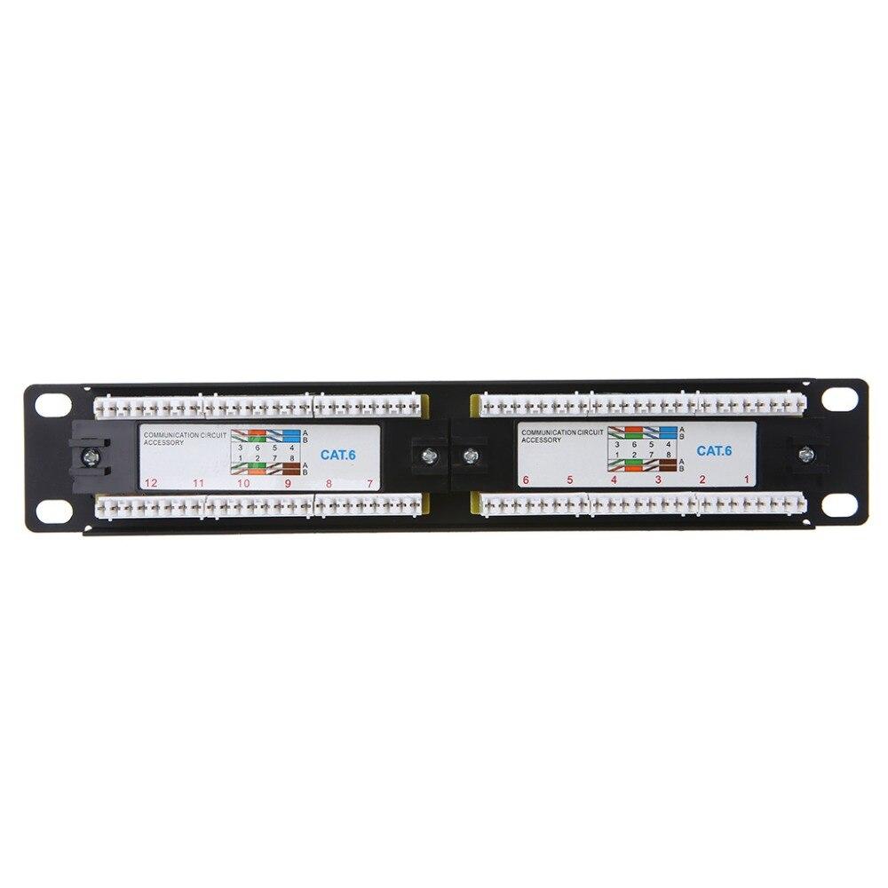 Cat6 12 порт RJ45 патч-панель UTP LAN сетевой адаптер Кабельный разъем