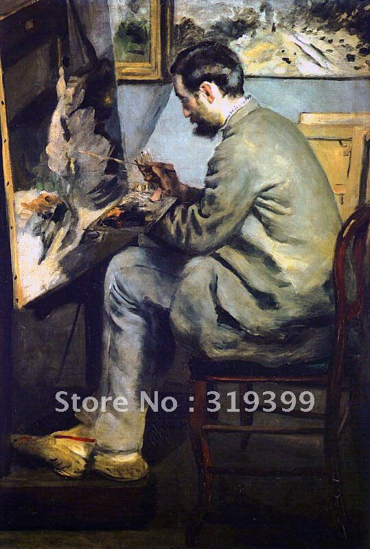 Oil Painting Reproduction,portrait of jean frederic bazille by pierre auguste renoir,on linen canvas,Free dhl Shipping,handmadeOil Painting Reproduction,portrait of jean frederic bazille by pierre auguste renoir,on linen canvas,Free dhl Shipping,handmade
