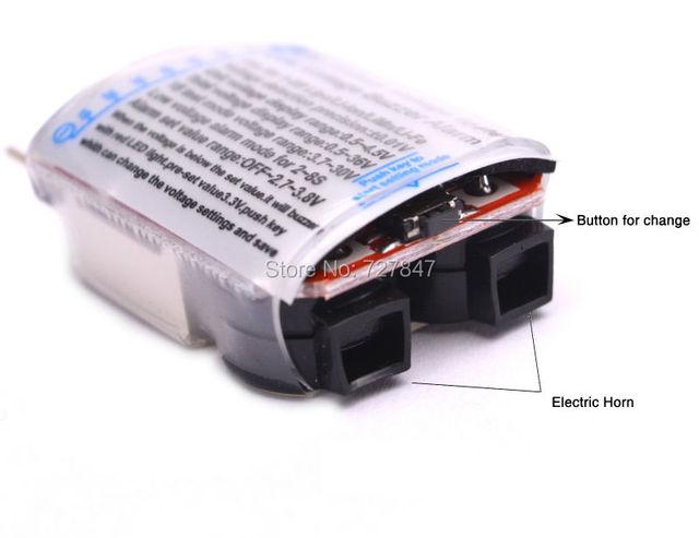 3.7-30V 1-8S Lipo/Li-ion/Fe Battery Voltage 2IN1 Tester Low Voltage Buzzer Alarm