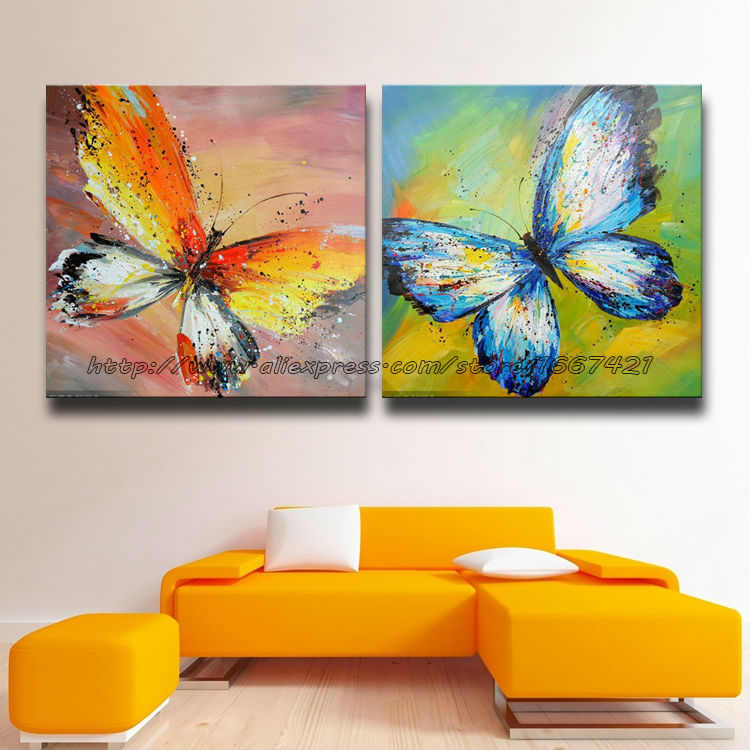 Nueva pintura al leo pintada a mano abstracta moderna - Pinturas de pared modernas ...