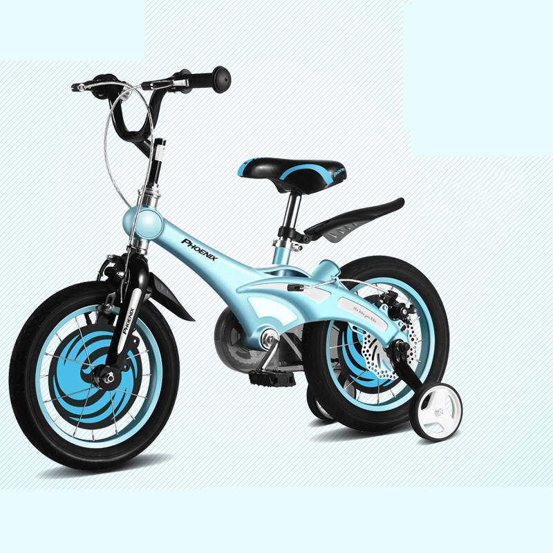 Perfect New Brand Magnesium Alloy Frame Child Bike 12/14/16 inch Auxiliary Wheel Dual Disc Brake Bicycle Boy Girl Children buggy 4