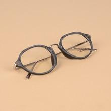 New Fashion Women And Men Oval Vintage Glasses Frame Elegant Female Trendy Eyeglasses Male Eyewear Frames Optical Glasses Frame