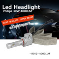 Led Headlight 9012 P hilips L uxeon Z es Chips 60w 4000lm 6500k 360 degree Beam Angle Fanless Copper Heatsink Led Headlamp