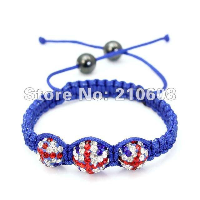 Uk Flag Shamballa Bracelet 1pcs Lot High Quality Blue String Uni Healthy