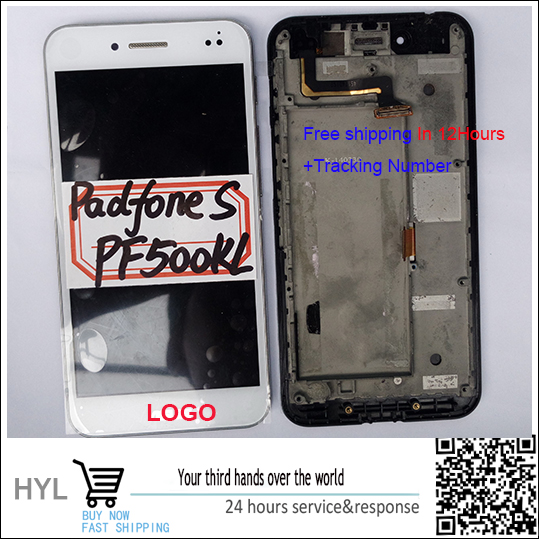 Original quality Touch screen digitizer LCD display with frame For Asus PadFone S PF500KL fast shipping