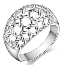 hollow shiny decent Silver plated Ring Fashion Jewerly Ring Women&Men , /AQHSSCJH ITMVLXRL