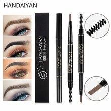 HANDAIYAN EyeBrow Pencil Tatoo Eyebrow Pen Double Head Waterproof Black Brown Eye Brow Tint Paint For Makeup set
