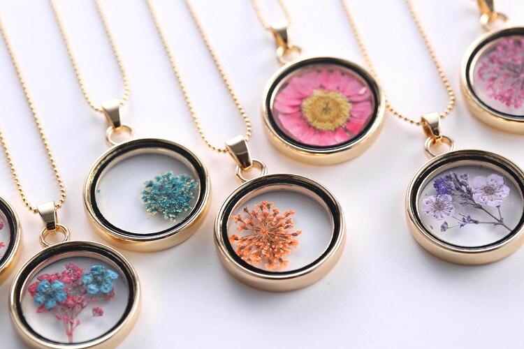 Aliexpress.com: Compre 2015 medalhão memória charme colar & pingente de rosa Secas girassóis DIY Colar de corrente cor de ouro jóias naturais para as ...