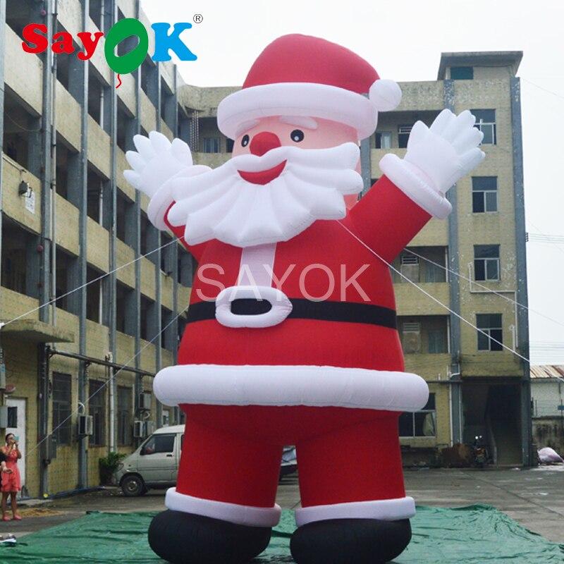 Gigante 6 m/20ft Altas Ao Ar Livre Infláveis de Papai Noel Decoração de Natal