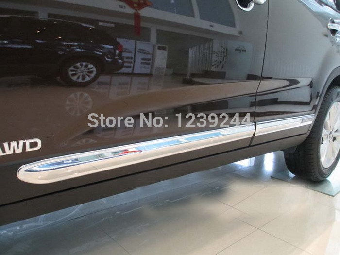 Chrome Body Side Moulding Trim Overlay cover for NEW KIA SORENTO 2013 2014 abs chrome body side moldings side door decoration for 2013 kia sorento car styling