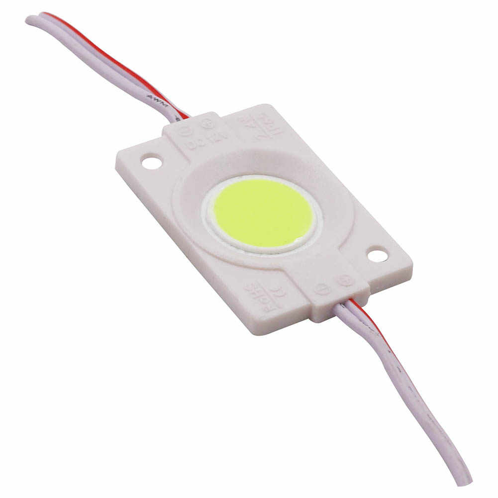 2.4W COB LED Module Advertisement Light Cold/Warm White Red Yellow Blue Lamp High Bright COB Chip DIY Letter lights DC12V