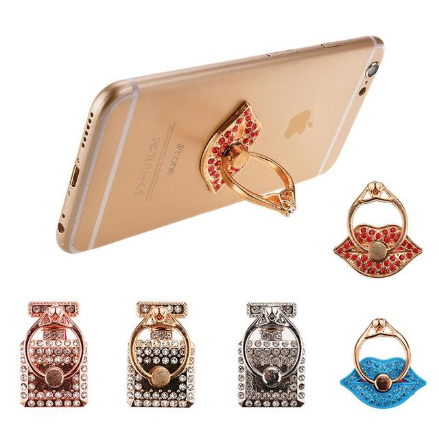 Hot 360 DegreeRotating Rose Ring Finger Mobile Phone Stand Holder For Mobile Phone /Tablet
