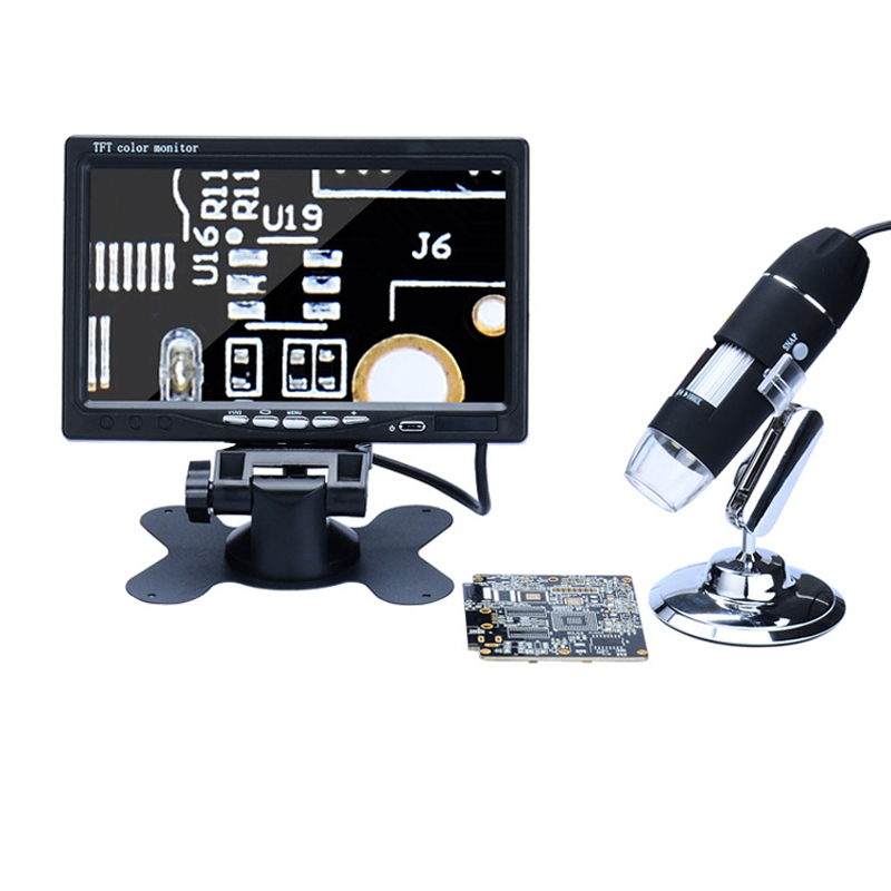 1000X Digital Microscope Electronic Video Microscope 7 HD LCD Soldering VGA Microscope Phone Pcb Motherboard Repair Magnifier