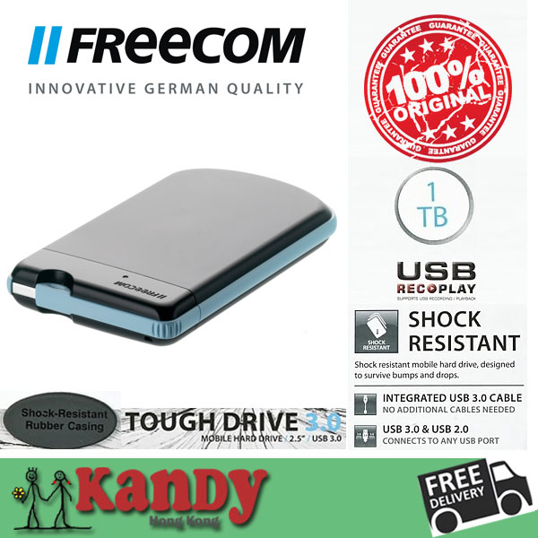 Freecom water resistant usb 3 0 external hard disk 1tb hdd for Hdd esterno 4 tb