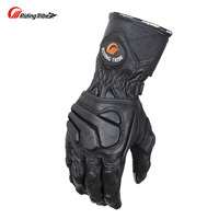 Riding Tribe Goatskin Motorcycle Gloves Winter Protection Motorcyclist Moto Rider Genuine Leather Moto Racing Guante MCS