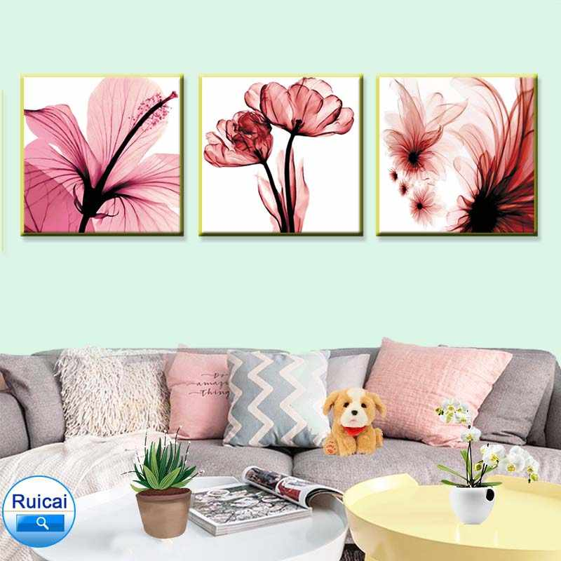 HD print 3 piece set hot safflower canvas art poster painting wall art living room bedroom painting