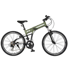New Mountain Bike Aluminum Alloy Frame Lockable Suspension Front Fork 26 Inch Wheel Folding Bicycle Outdoor Mtb Sports Bicicleta 160mm 350mm bicycle front fork mountain folding bicycles 20 inch spring shock absorber aluminum alloy bike front fork bzf002
